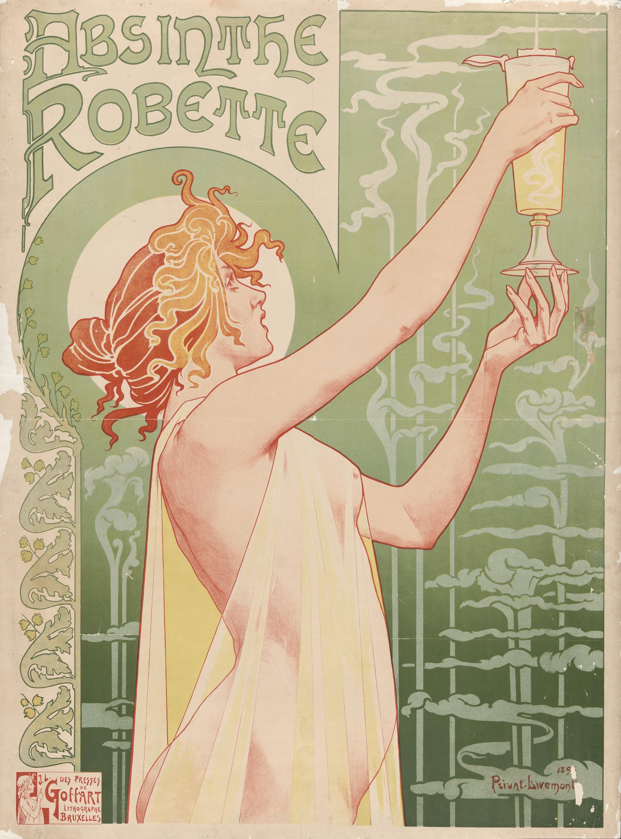 2 Privat Livemont Absinthe Robette 1896
