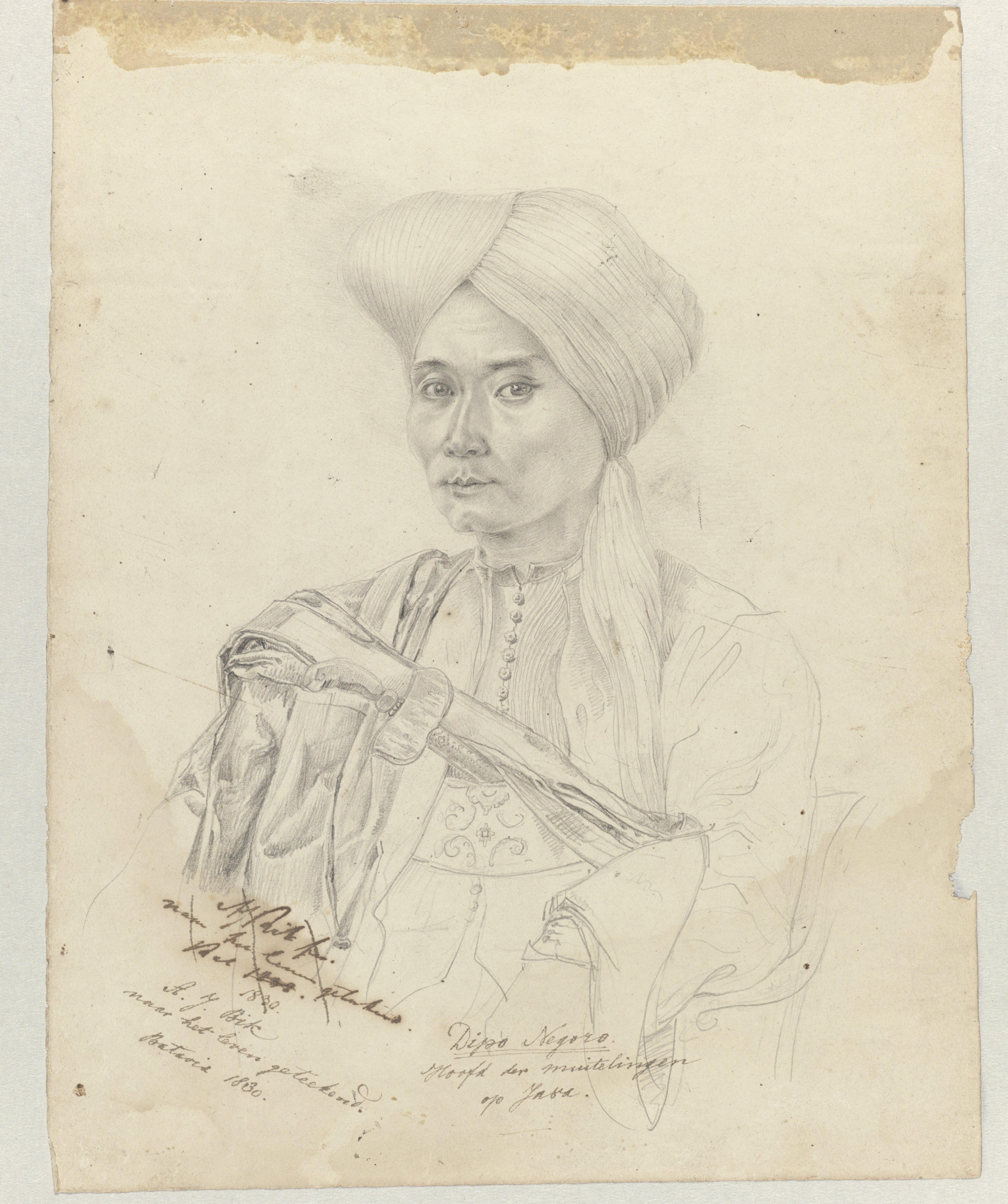 RECENSIE 1 BEELD 2 portret prins Diponegoro