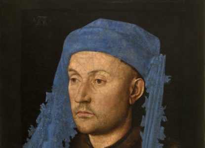 05 Portret van een man met blauwe kaproen verkleind
