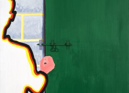 16 Man voor de deur met grendel 1969 Coll Marie Jeanne Vander Espt