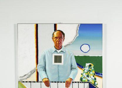 19 Zelfportret met karretje Self portrait with cart 1981 Collectie Vlaamse Gemeenschap Roger Raveel Museum