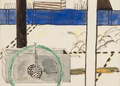 5 Blauwe muur met karretje 1952 Groeningemuseum Musea Brugge