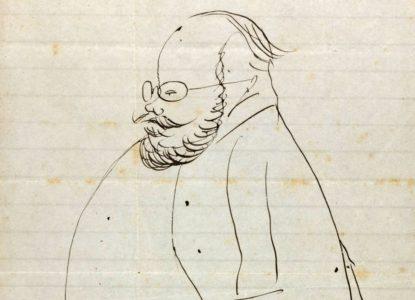 Edward Lear self caricature bijgesneden