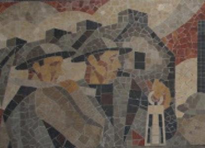 Lens gare mozaiek
