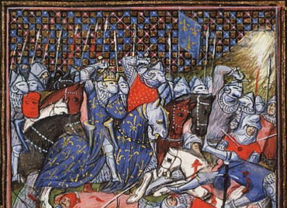 The battle between the Flemish and the French at Cassel